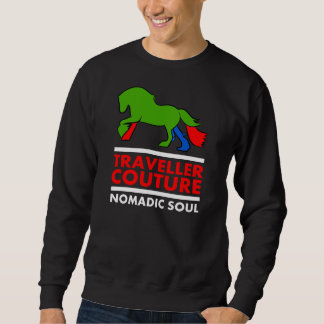 Traveller Couture Sweat Top with Colourful Horse