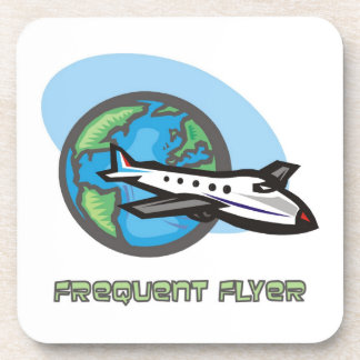 Traveller: Frequent flyer passenger airplane Drink Coasters
