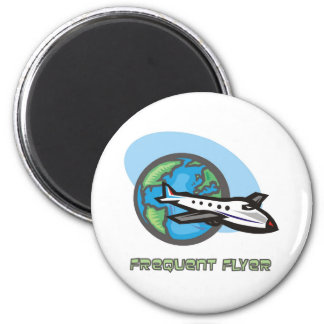 Traveller: Frequent flyer passenger airplane Magnets