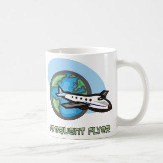 Traveller: Frequent flyer passenger airplane Mug