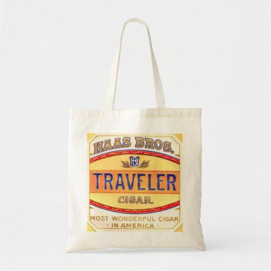 Traveller Vintage Cigar Label Image Tote Bag