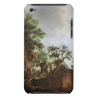Travellers by an Inn (oil on canvas) Barely There iPod Case