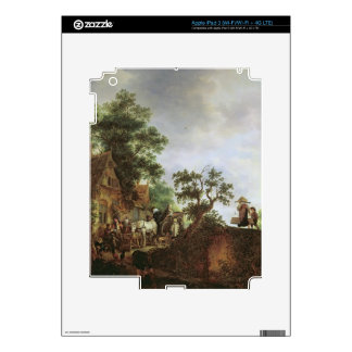 Travellers by an Inn (oil on canvas) iPad 3 Skin