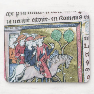 Travellers, from the Roman de Jules Cesar Mouse Pad