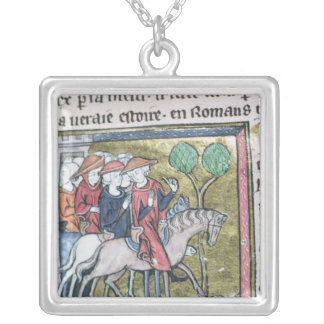 Travellers, from the Roman de Jules Cesar Silver Plated Necklace