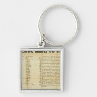 Travellers guide and emigrants directory Silver-Colored square keychain