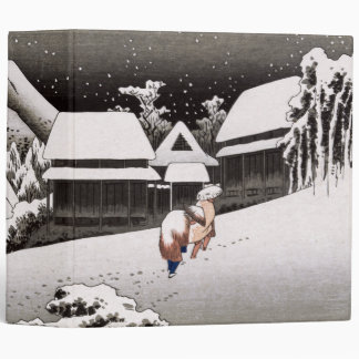 Travellers in the Snow at the Kanbara Station Binder