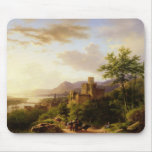 Travellers on a Path in an extensive Rhineland Lan Mouse Pad