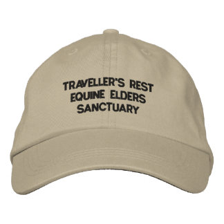 TRAVELLER'S REST EQUINE ELDERS SANCTUARY EMBROIDERED BASEBALL HAT