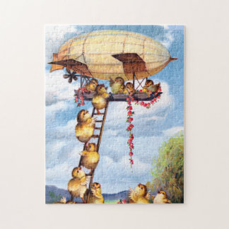 Travelling Chicks Jigsaw Puzzle