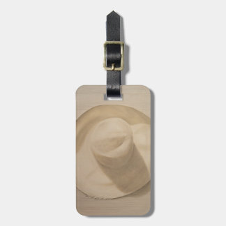 Travelling Hat on Dusty Table 2010 Luggage Tag