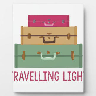 Travelling Light Plaque