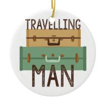 Travelling Man Ceramic Ornament