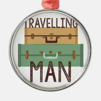 Travelling Man Metal Ornament