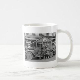 Travelling Musician, Weird Vehicle, 1929 Coffee Mug