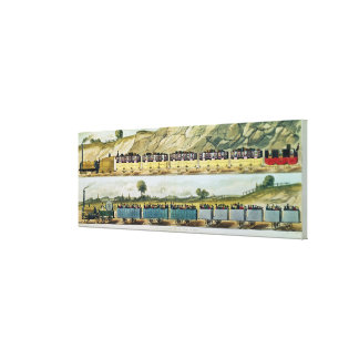Travelling on the Liverpool and Manchester Canvas Print