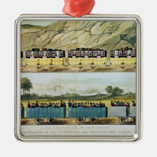Travelling on the Liverpool and Manchester Metal Ornament