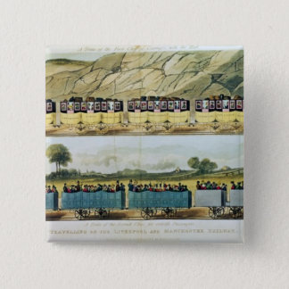 Travelling on the Liverpool and Manchester Pinback Button