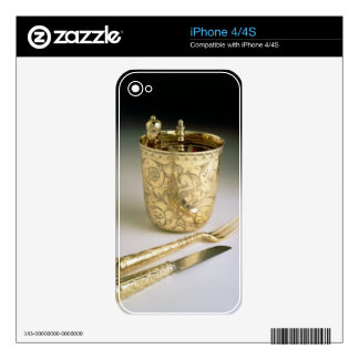Travelling set of a knife, fork, spoon and beaker, decals for the iPhone 4S