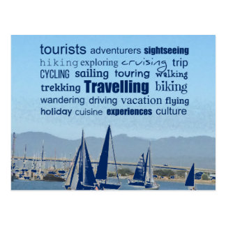 Travelling Word Collage Postcard