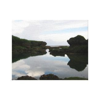 Travels Guam: A Natural Shoreline Pool Canvas Print
