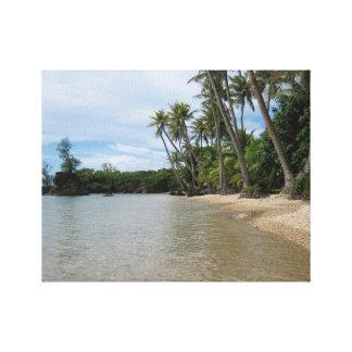 Travels, Guam:  An Island Cove Canvas Print