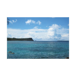 Travels Guam: Snorkling in an Island Cove Canvas Print
