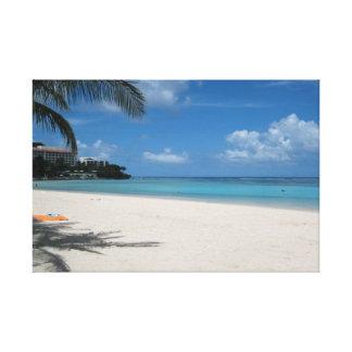 Travels Guam: Tropical Beach Canvas Print