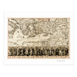 Travels of the Apostle PaulPanoramic Map Postcards