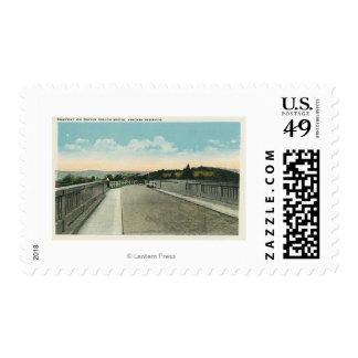 Traver Hollow Bridge Roadway View Postage Stamps