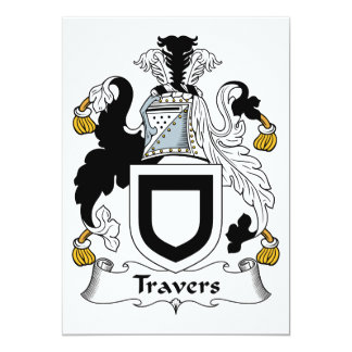 Travers Family Crest Card