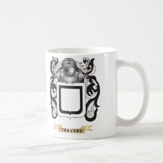Travers Family Crest Coat of Arms Coffee Mug