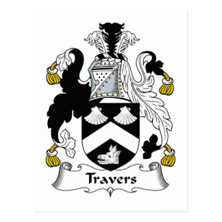 Travers Family Crest Postcard