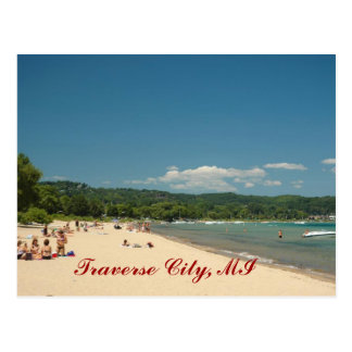 Traverse City Beach Postcard