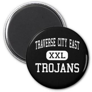 Traverse City East - Trojans - Traverse City 2 Inch Round Magnet