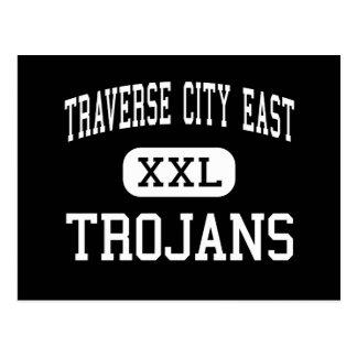 Traverse City East - Trojans - Traverse City Postcard