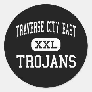 Traverse City East - Trojans - Traverse City Round Stickers