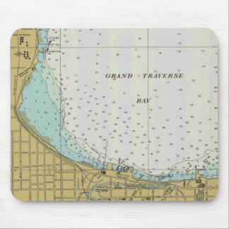 Traverse City Harbor Chart Mouse Pad