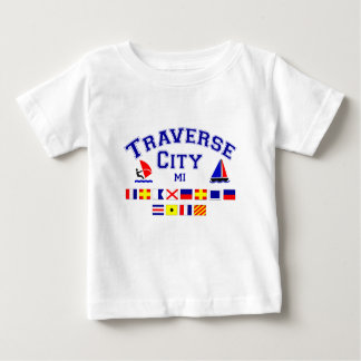 Traverse City MI Signal Flags Baby T-Shirt