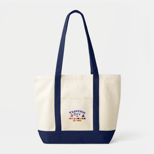 Traverse City MI Signal Flags Canvas Bag