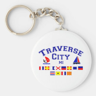 Traverse City MI Signal Flags Keychain