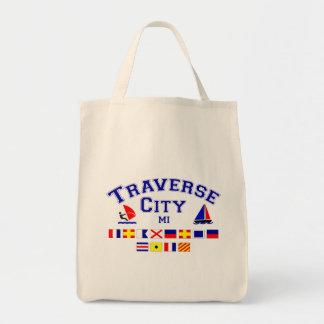 Traverse City MI Signal Flags Tote Bag