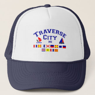 Traverse City MI Signal Flags Trucker Hat
