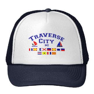 Traverse City MI Signal Flags Trucker Hat