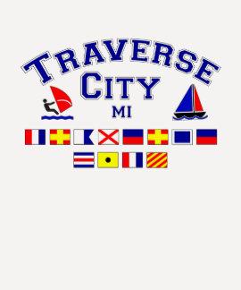 Traverse City MI Signal Flags T Shirts