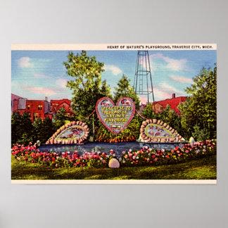 Traverse City Michigan 1950 Tourist Image Poster