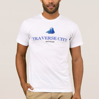 Traverse City, Michigan - American Apparel T-Shirt