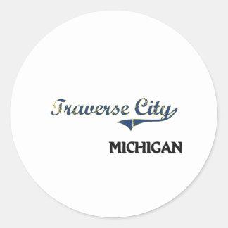 Traverse City Michigan City Classic Sticker
