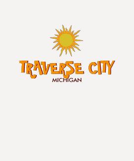 TRAVERSE CITY, MICHIGAN - Ladies 3/4 Sleeve Raglan Tee Shirts
