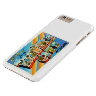 Traverse City Michigan MI Vintage Travel Souvenir Barely There iPhone 6 Plus Case